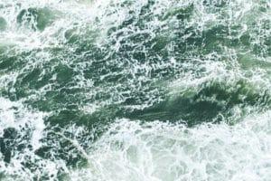 Churning waves.