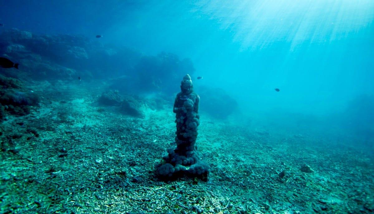 Buddha on the ocean floor.