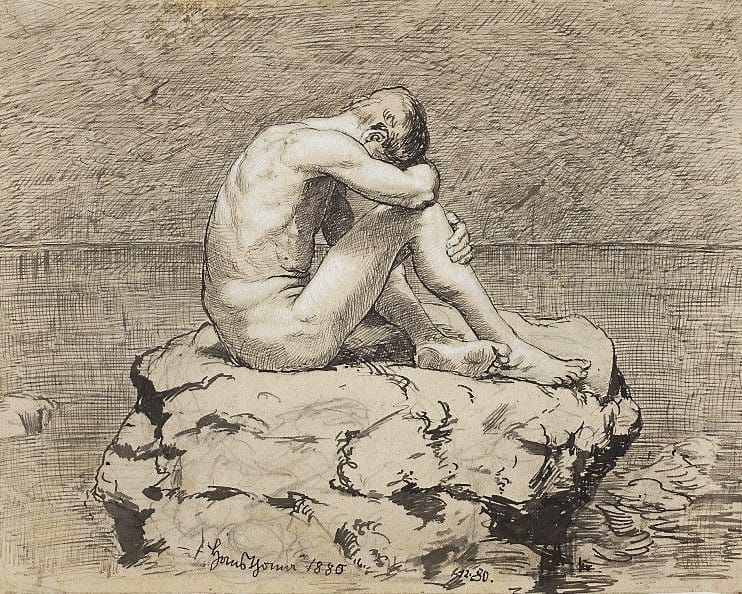 Thoma Loneliness by Hans Thoma