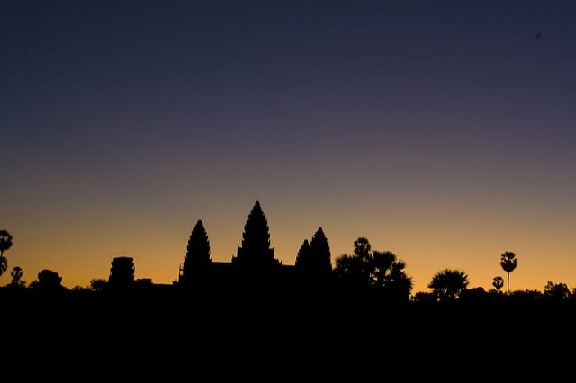 Angkor Wat at twilight
