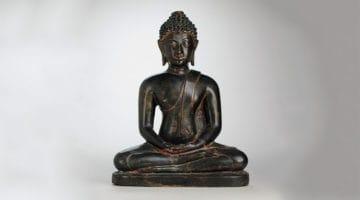 Thai sculpture of Buddha Shakyamuni.