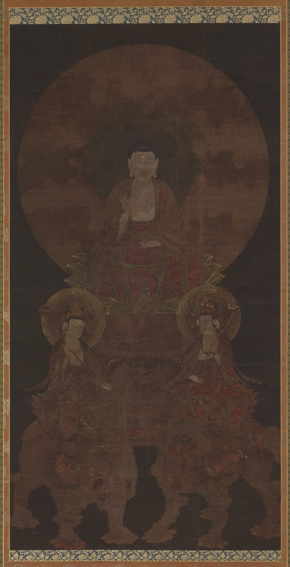 ; Japan; 15th century; Color and gold on silk; H x W: 115.2 x 58.9 cm (45 3/8 x 23 3/16 in); Gift of Charles Lang Freer