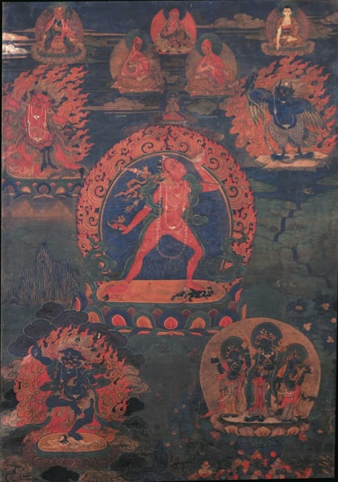 Vajrayogini (Naropa tradition), a yidam of the anuttara yoga tantra.