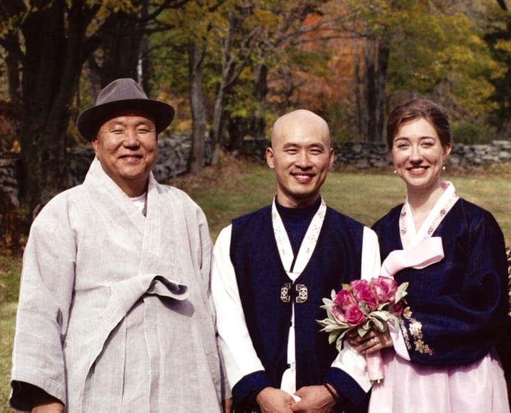 Ilmee Sunim's Zen master, Simong Sunim, travled from Korea to join Ilmee and Sumi for their wedding.