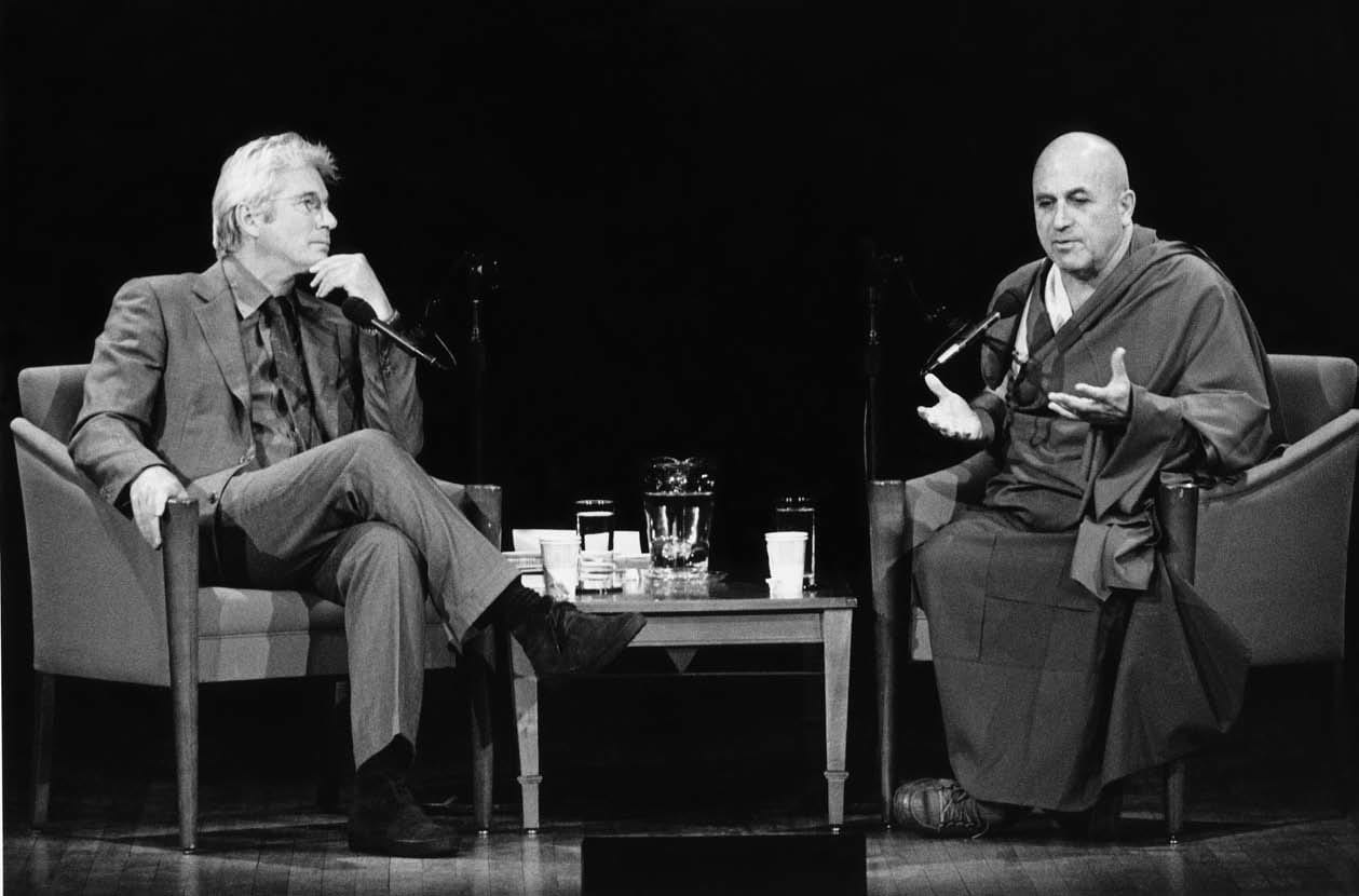 Matthieu Ricard and Richard Gere in conversation.