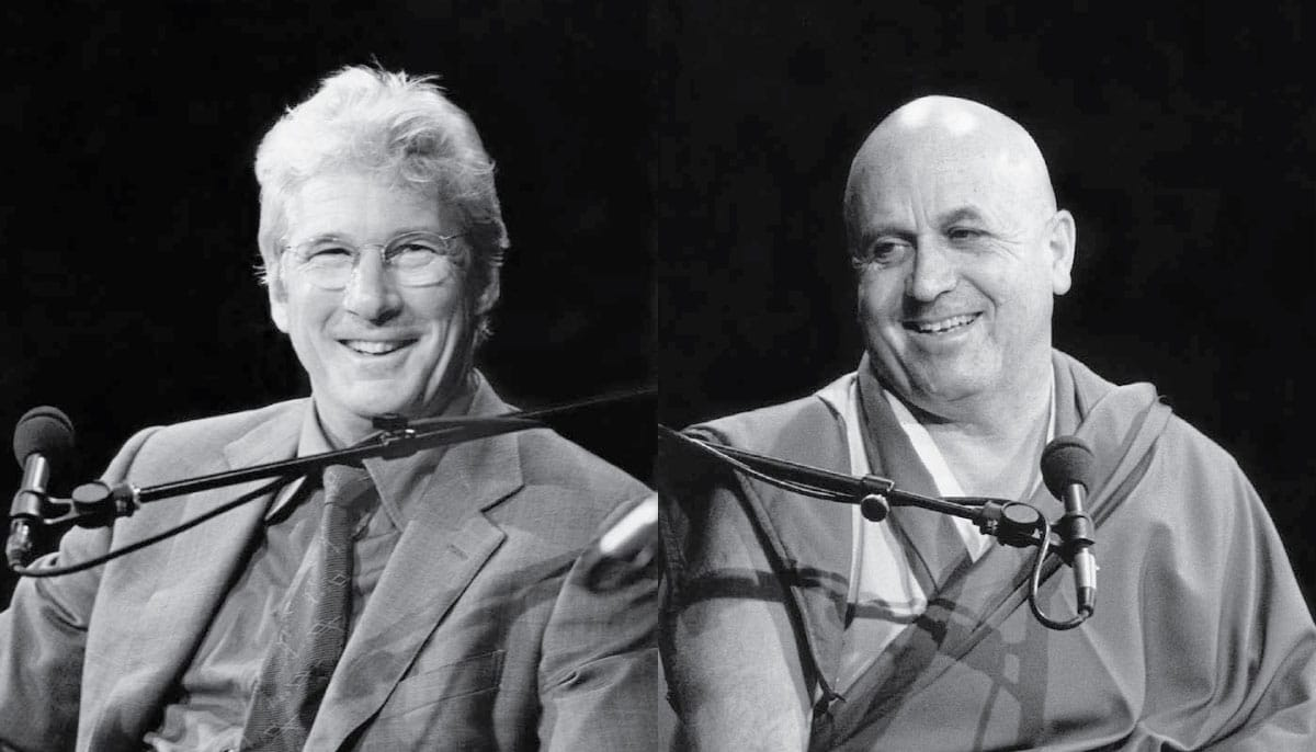Richard Gere and Matthieu Ricard