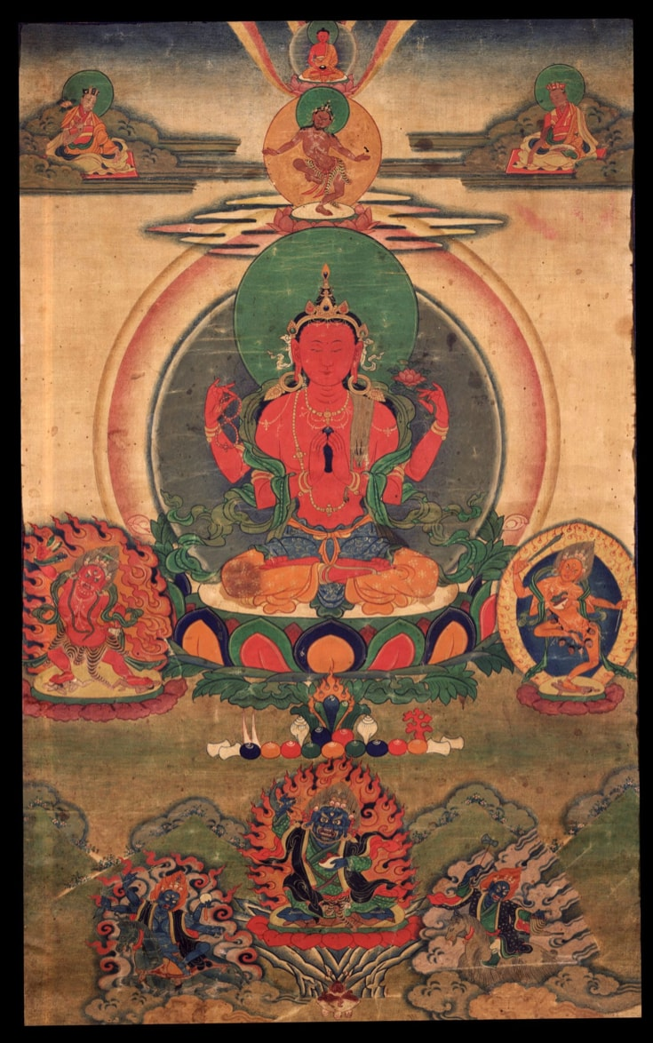 Vajrayana thangka painting