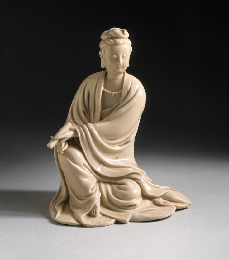 Porcelain sculpture of Avalokitesvara.