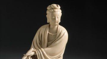 Porcelain sculpture of Avalokitesvara.