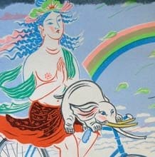 Samantabhadra (with Dumbo) - by Mayumi Oda