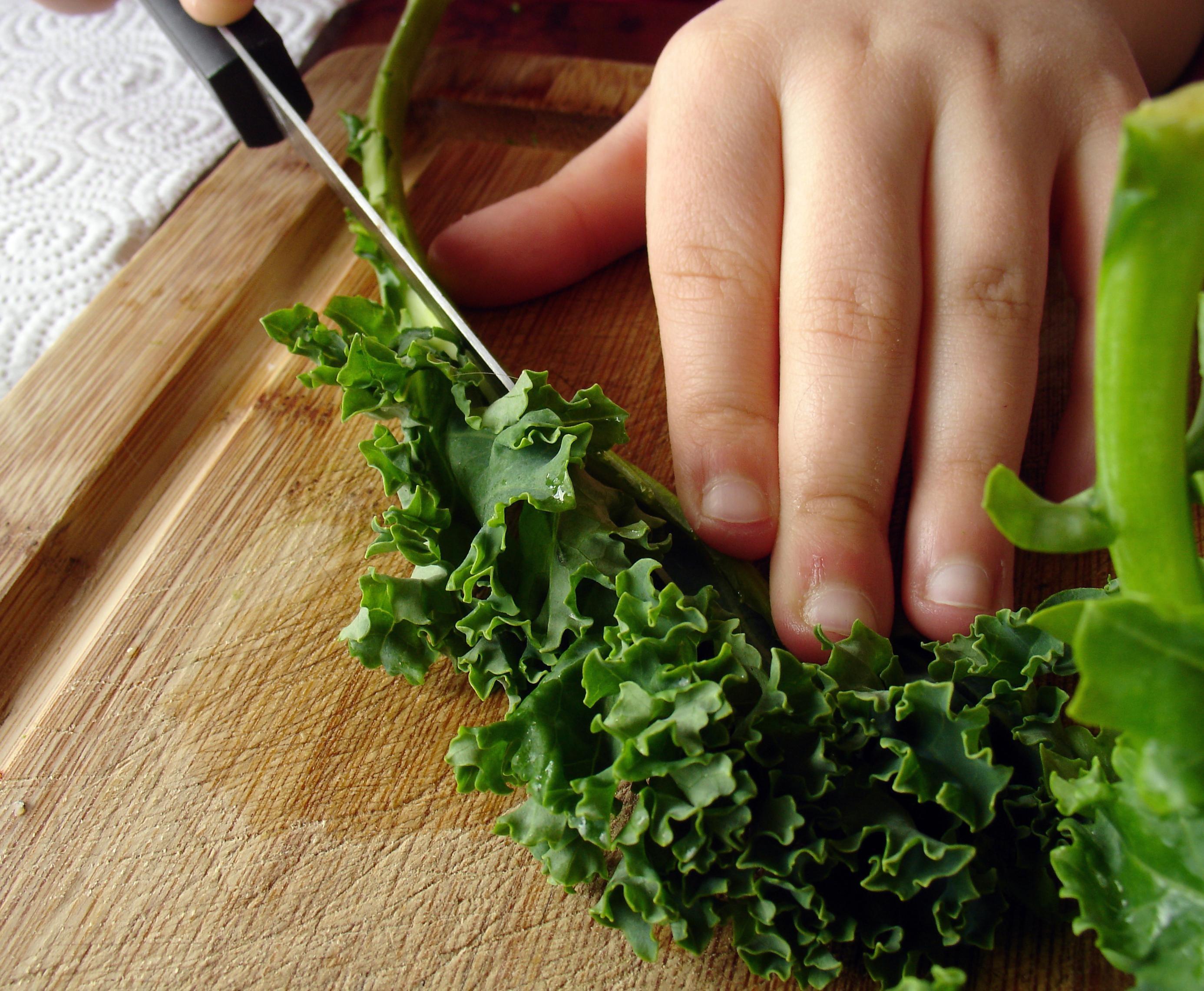 mindful cooking, mindfulness in the kitchen, Edward Espe Brown, Tassajara, Lion's Roar, kale, cutting vegetables