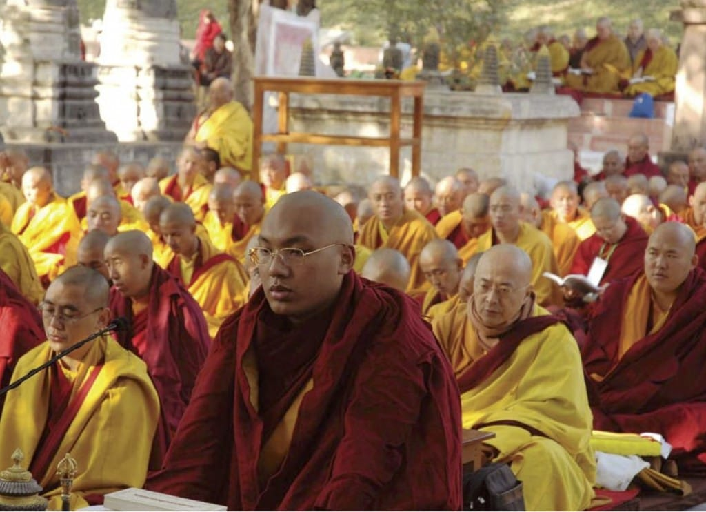 Karmapa Kagyu Lion's Roar Buddhism Bodhgaya India prayer festival