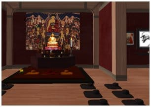 """Five Mountain Zendo"" in Second Life."