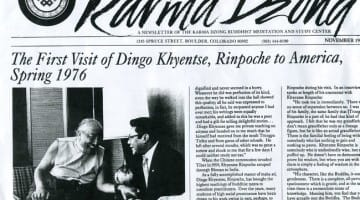 Recalling Khyentse and Trungpa Rinpoches: A close relation (Video)