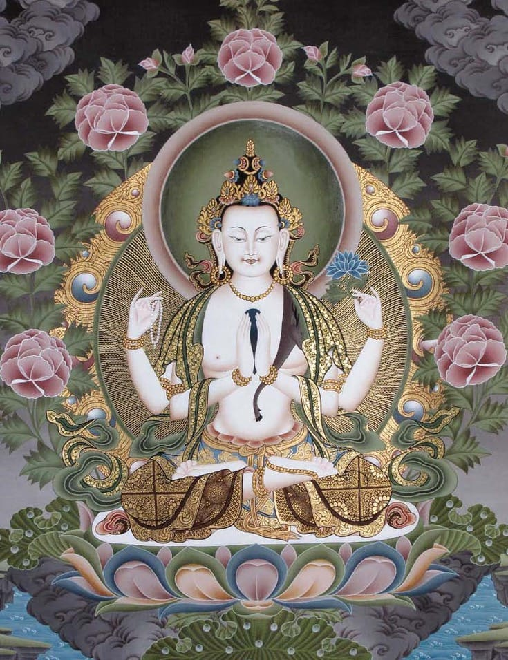Tonglen. Thangka of Avalokiteshvara.