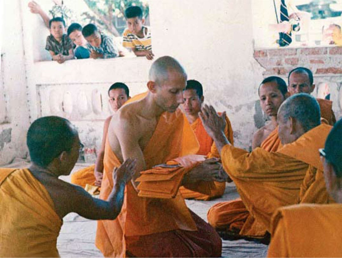 Jack kornfield at his monastic ordination