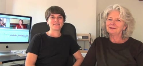 In the editing room: Amber Bemak and Victoria Hitchcock