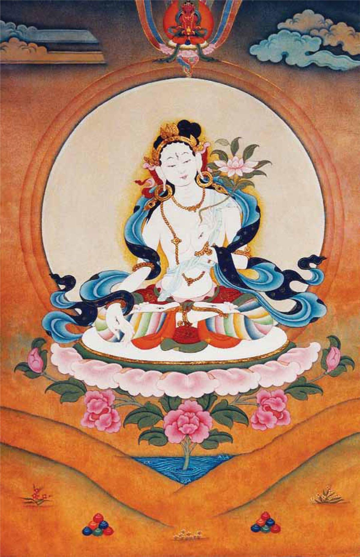 white tara vajrayana deitiy feminine energy sanje elliot women buddhism female lion's roar shambhala sun