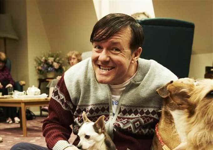 "Ricky Gervais as the title character in ""Derek"", his new comedy with a heart of gold."