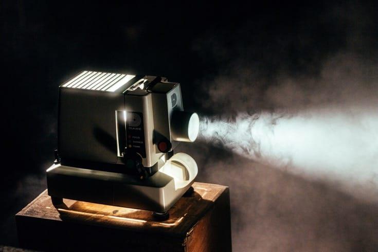 Film projector.