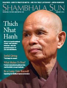 Thich Nhat Hanh on the cover of our January magazine.