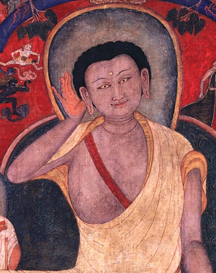 Milarepa (detail) Courtesy of the Rubin Museum of Art