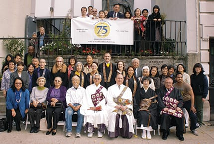 Members of the New York Buddhist Church gathered last fall to celebrate the community's 75th anniversary
