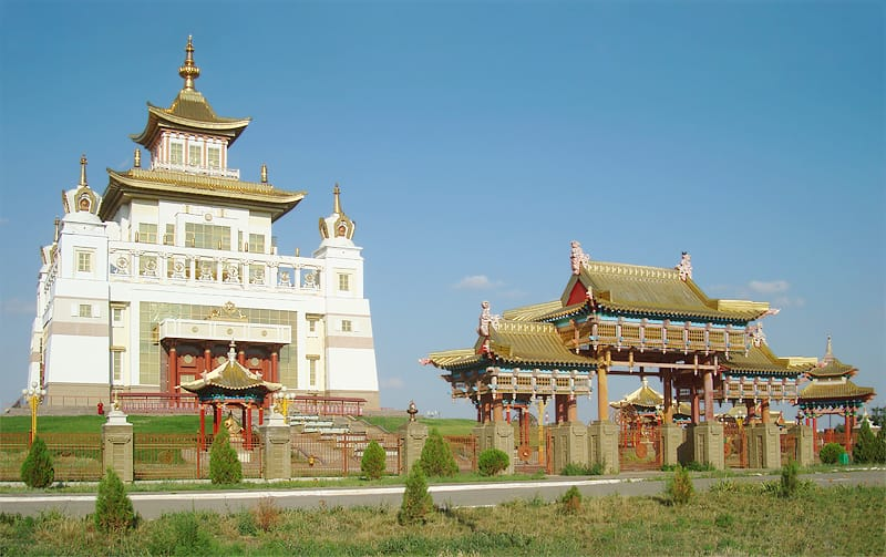 The first Buddhist temple in Moscow