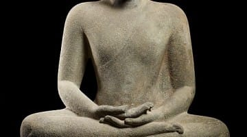 Buddha in meditation, Thailand, late 6th - early 7th CE. Image via www.metmuseum.org.