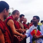 Exiled Tibetan monks travel from India to support Ferguson protestors