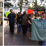 Buddhist Peace Fellowship protests Urban Shield, police militarization in Oakland