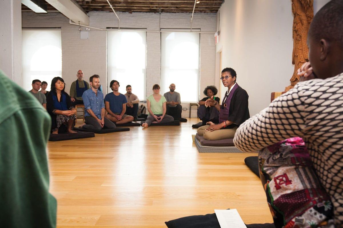 angel kyodo williams a jesse jiryu davis brooklyn zen center open hearst open doors diversity inclusion race privilege shambhala sun dharma center new york city meditation lion's roar buddhism