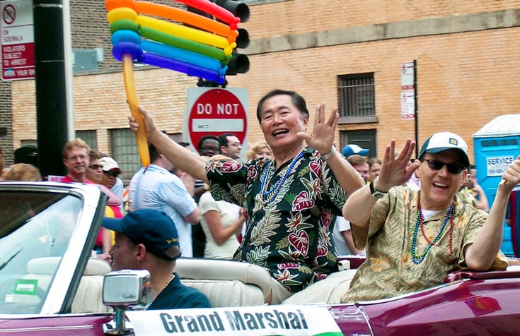 George Takei Gay Buddhist Star Trek LGBT Lion's Roar Japan Interment Camps Stonewall California Social Media Brad