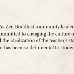 Zen teachers issue open letter confronting abuse