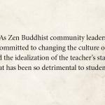 Zen teachers issue open letter confronting abuse