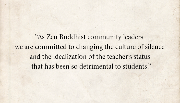 Zen teachers issue open letter confronting abuse Open-Letter-Quote-for-LR-Front-Page
