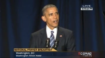 Obama welcomes the Dalai Lama video National Prayer Breakfast