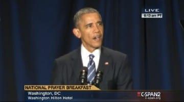 Obama welcomes the Dalai Lama video National Prayer Breakfast