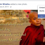 Facebook using Buddhist tools to fight hate speech in Burma