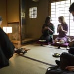 First Lady Michelle Obama, along with Ambassador Caroline Kennedy and Jack Schlossberg participate in a traditional Japanese tea ceremony, while visiting Kiyomizu-Dera Buddhist Temple in Kyoto, Japan on March 20, 2015. (Official White House Photo by Amanda Lucidon)