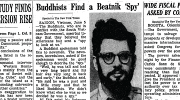 Allen Ginsberg Beatnik Spy Vietnam New York Times Lion's Roar Buddhism