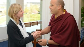Karmapa US Institute of Peace King in Queens Kagyu Buddhism Barry Boyce compassion tradition technology new 2015
