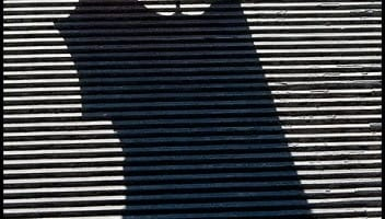 photo of the week andy karr contemplative photography miksang seeing fresh leaf metal grate shadow