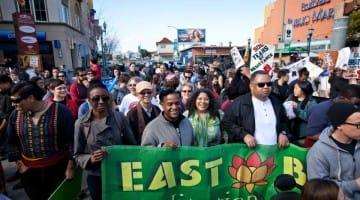 ebmc East Bay Meditation Center brenda salgado marching banner