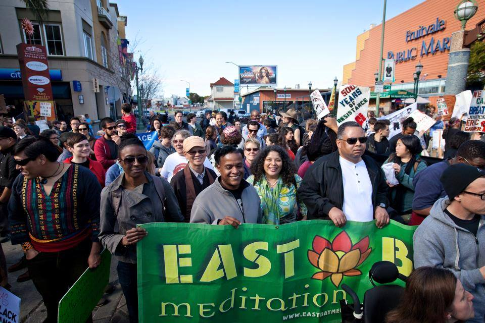 ebmc East Bay Meditation Center brenda salgado marching banner