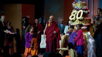 From the celebration of the Dalai Lama's 80th birthday at the Global Compassion Summit, July 5, 2015.  Photo by Don Farber.