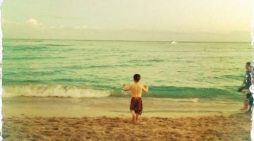 ocean, boy, children, parenting, koun franz, one continuous mistake, zen, moving, lion's roar, buddhism