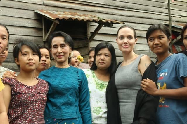 aung san suu kyi, angelina jolie, burma, rohingya, buddhist, lion's roar, news