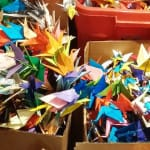 Buddhists, activists place 70,000 paper cranes in tribute to atomic bombings
