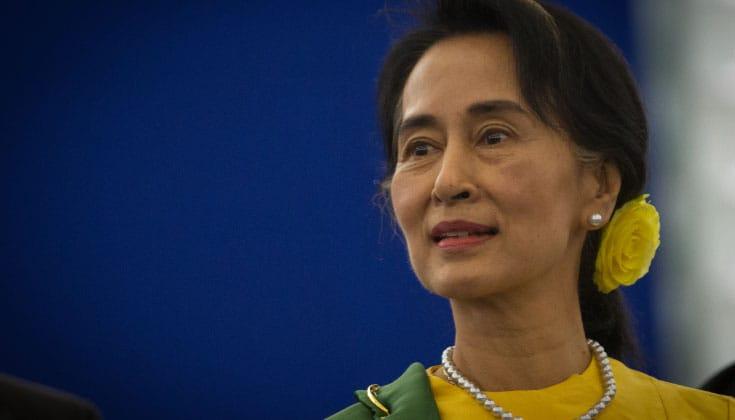 aung san suu kyi, election, lion's roar, news